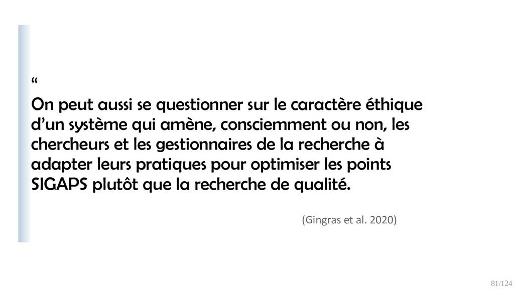 "81/125 "" La critique du « publish or perish » e..."