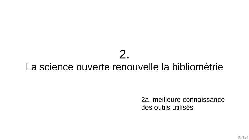 85/125 2. La bibliométrie existait avant (1930s...