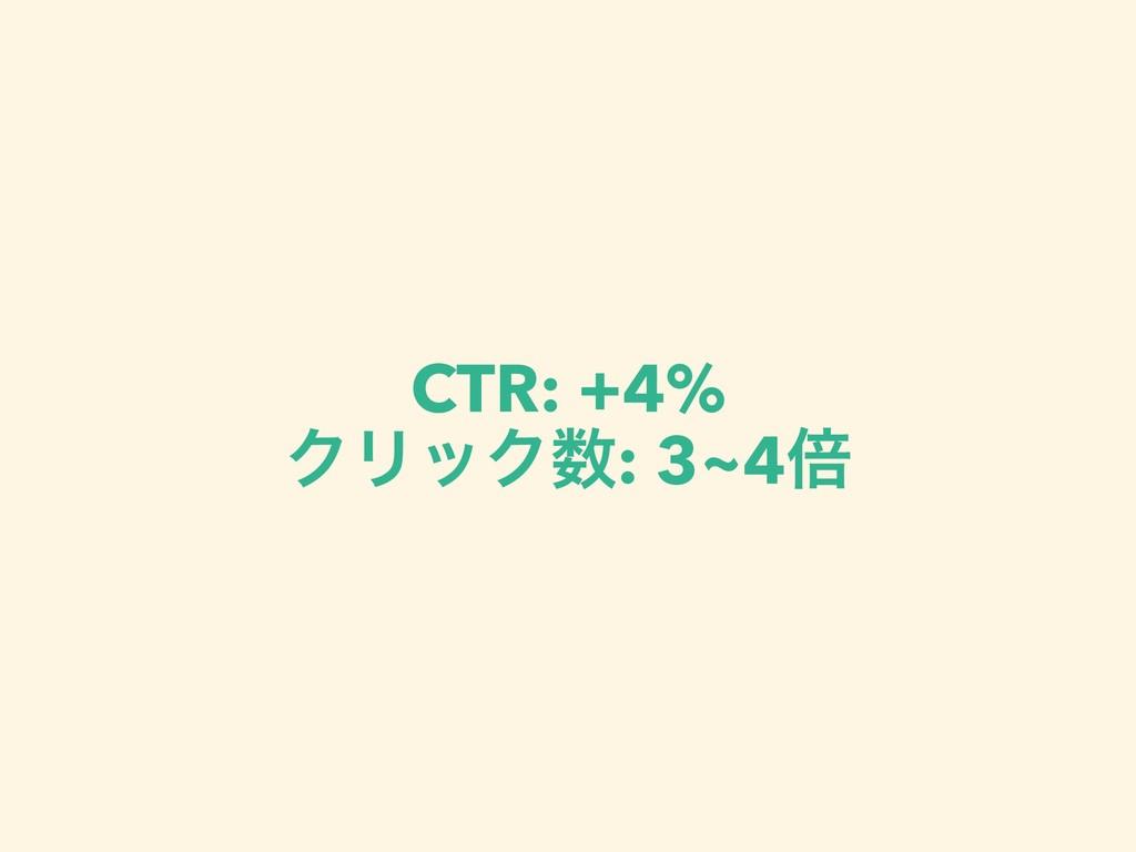 CTR: +4% ΫϦοΫ: 3~4ഒ