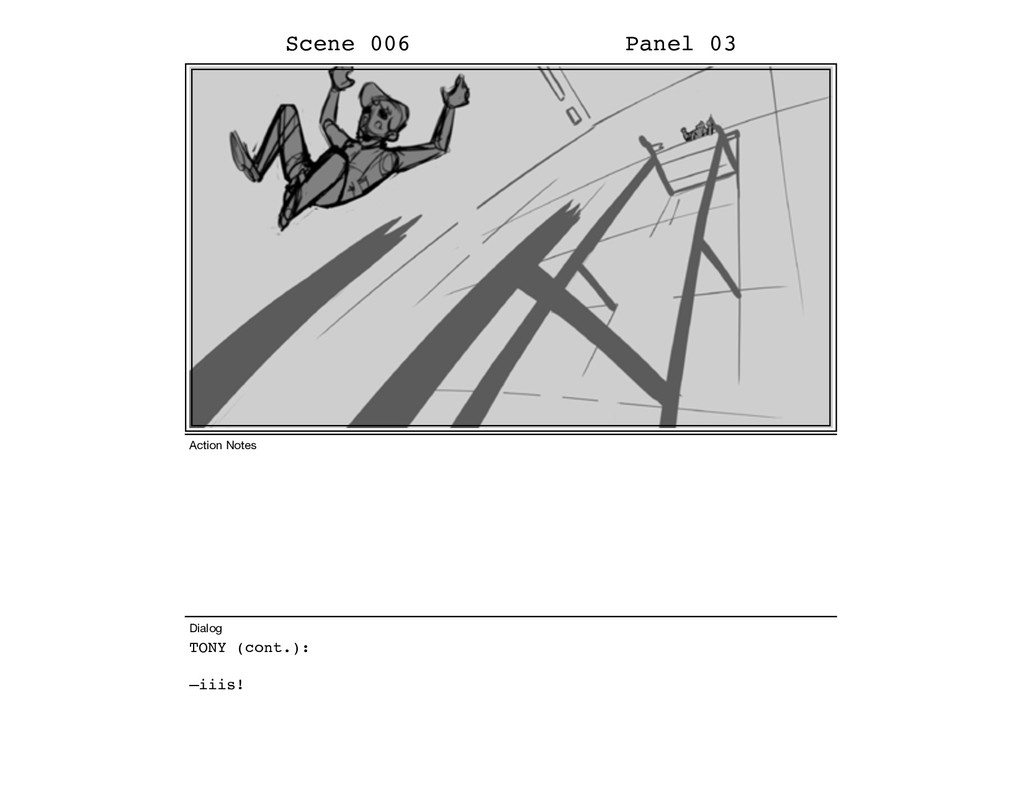 TONY (cont.): –iiis! Scene 006 Panel 03 Dialog ...