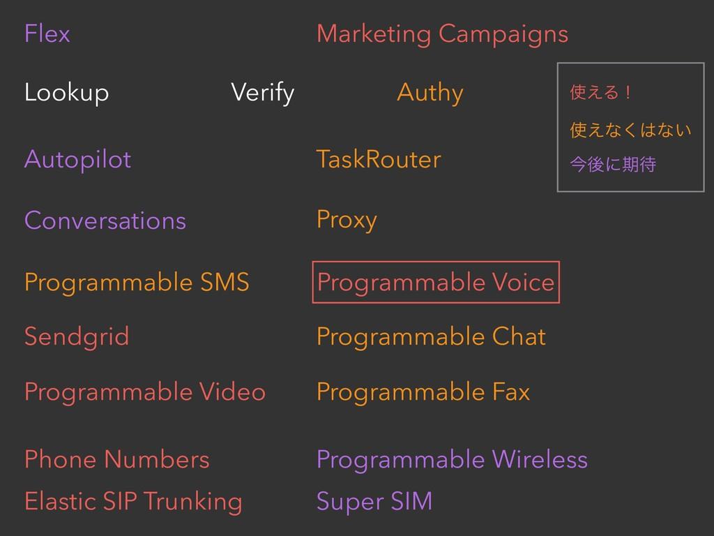Flex Marketing Campaigns Lookup Verify Authy Au...