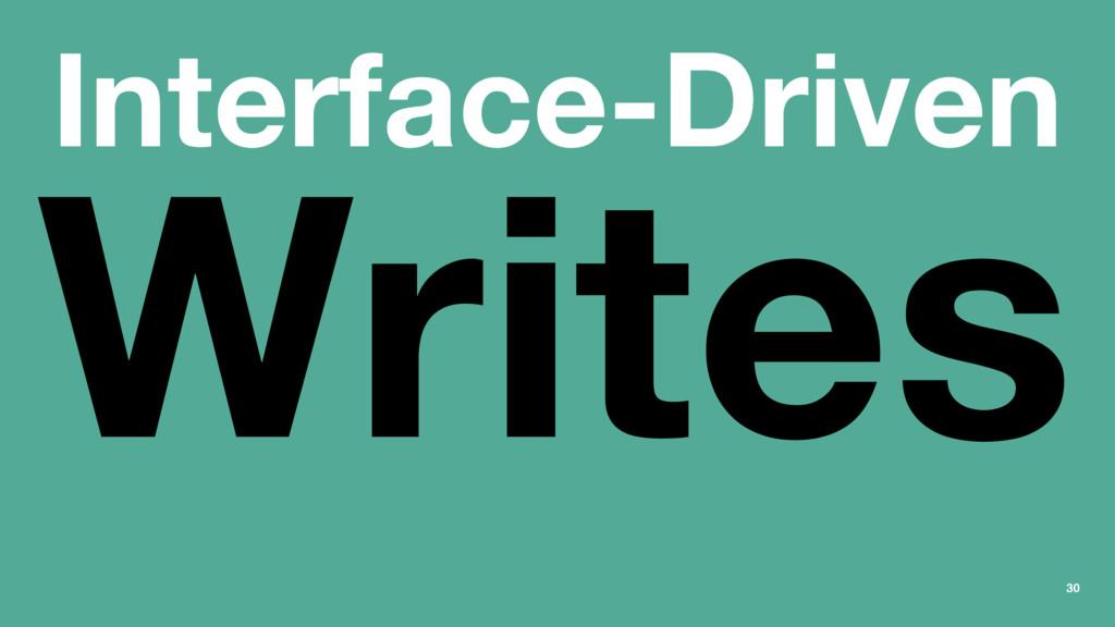 Interface-Driven Writes 30