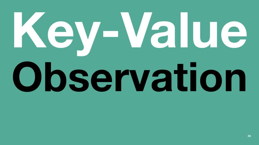 Key-Value Observation 35