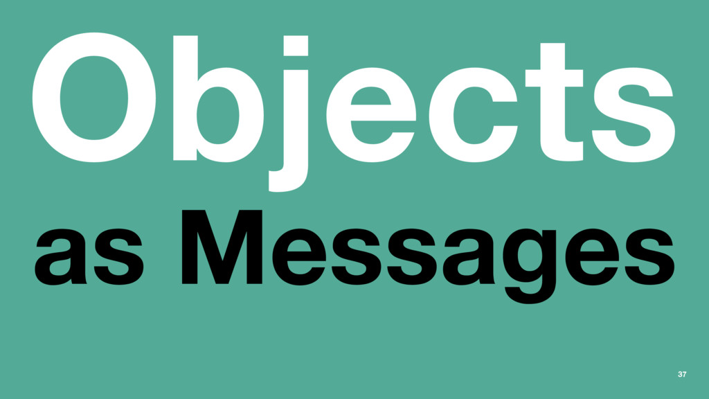 Objects as Messages 37