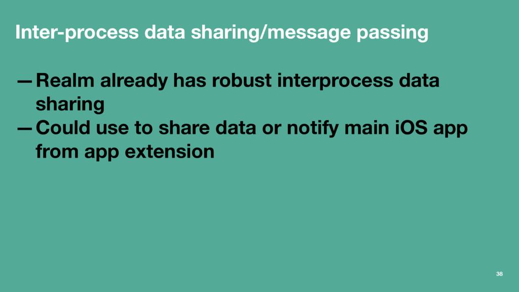 Inter-process data sharing/message passing —Rea...
