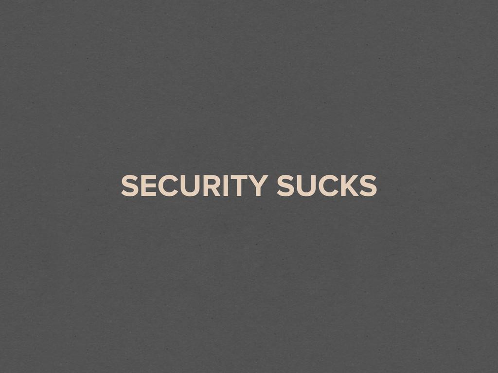 SECURITY SUCKS