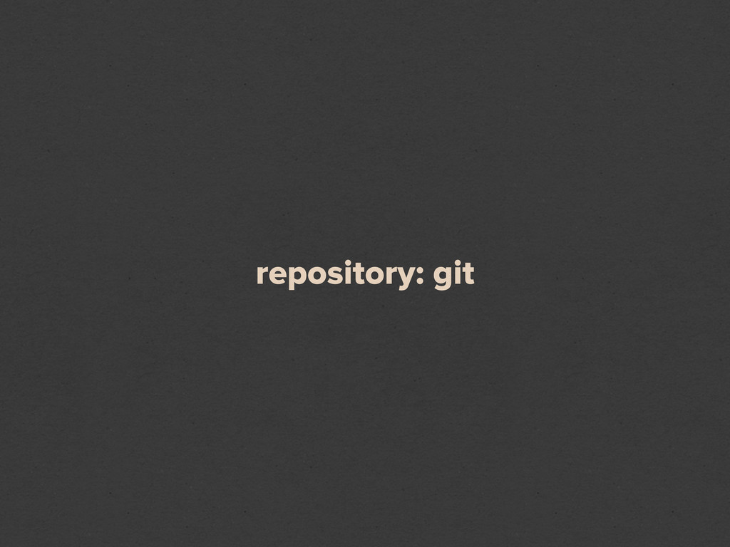 repository: git