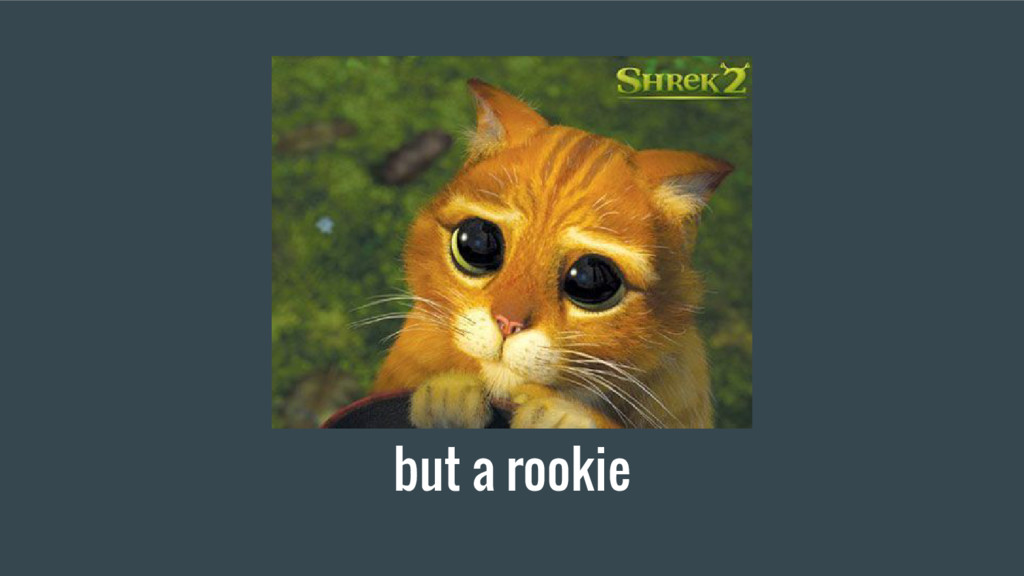 but a rookie