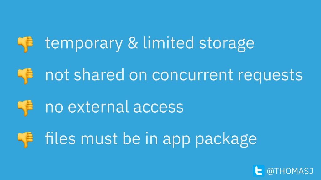 temporary & limited storage not shared on concu...