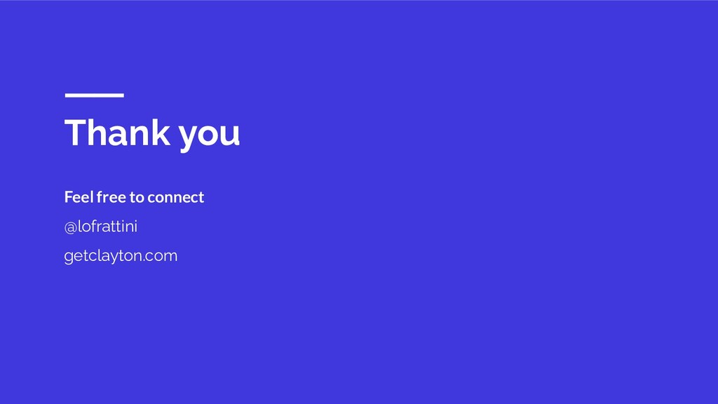 Thank you Feel free to connect @lofrattini getc...