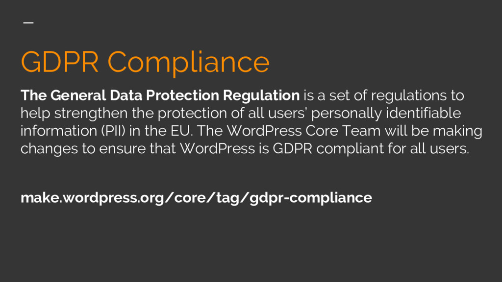 GDPR Compliance The General Data Protection Reg...