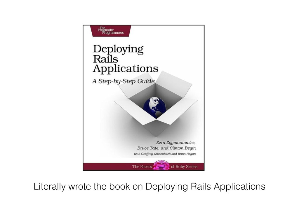 Literally wrote the book on Deploying Rails App...