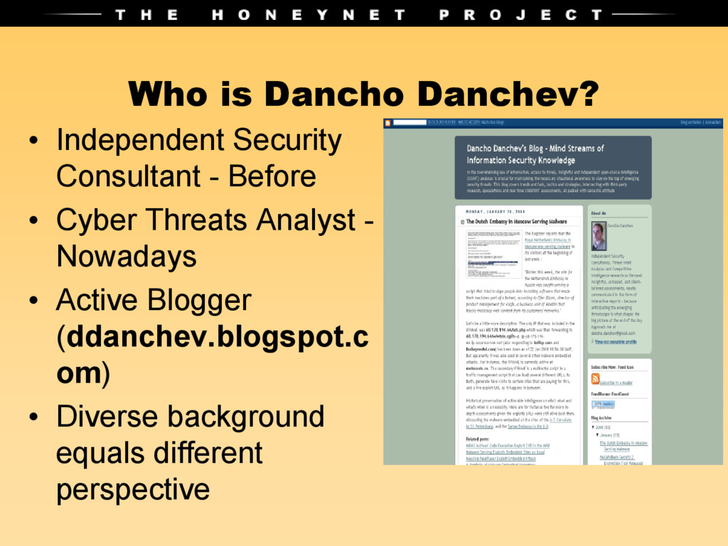 Who is Dancho Danchev? • Independent Security C...