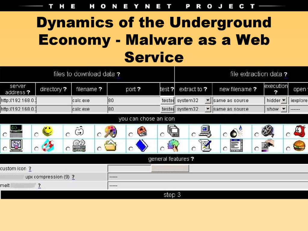 Dynamics of the Underground Economy - Malware a...