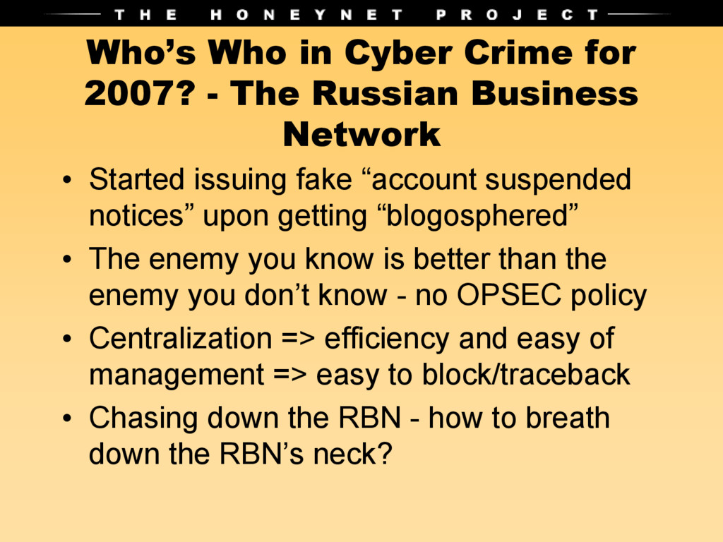 Who's Who in Cyber Crime for 2007? - The Russia...