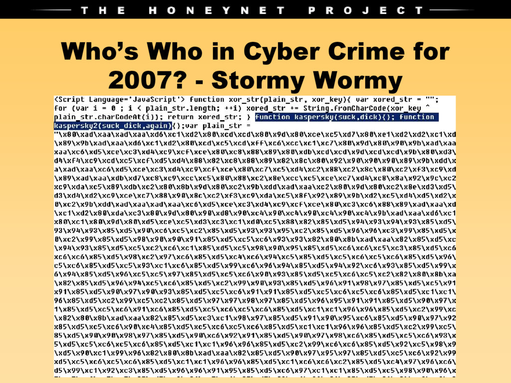 Who's Who in Cyber Crime for 2007? - Stormy Wor...