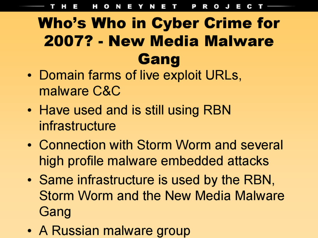 Who's Who in Cyber Crime for 2007? - New Media ...