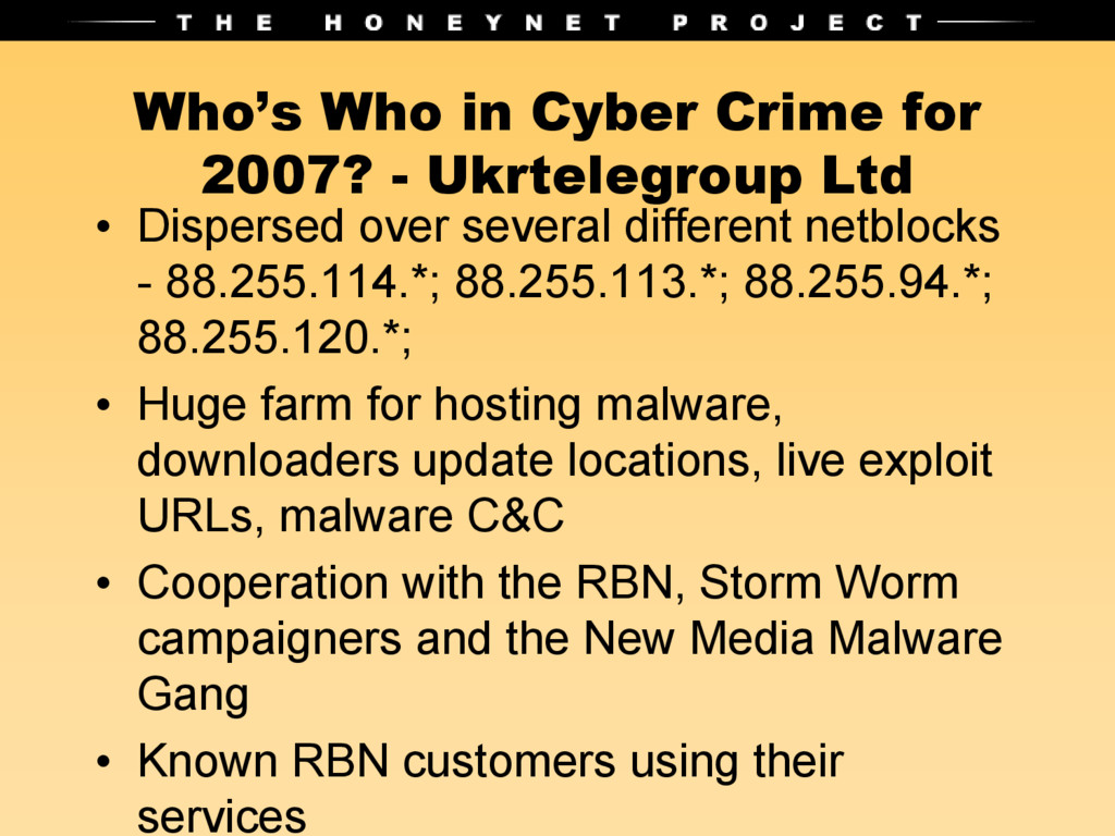 Who's Who in Cyber Crime for 2007? - Ukrtelegro...