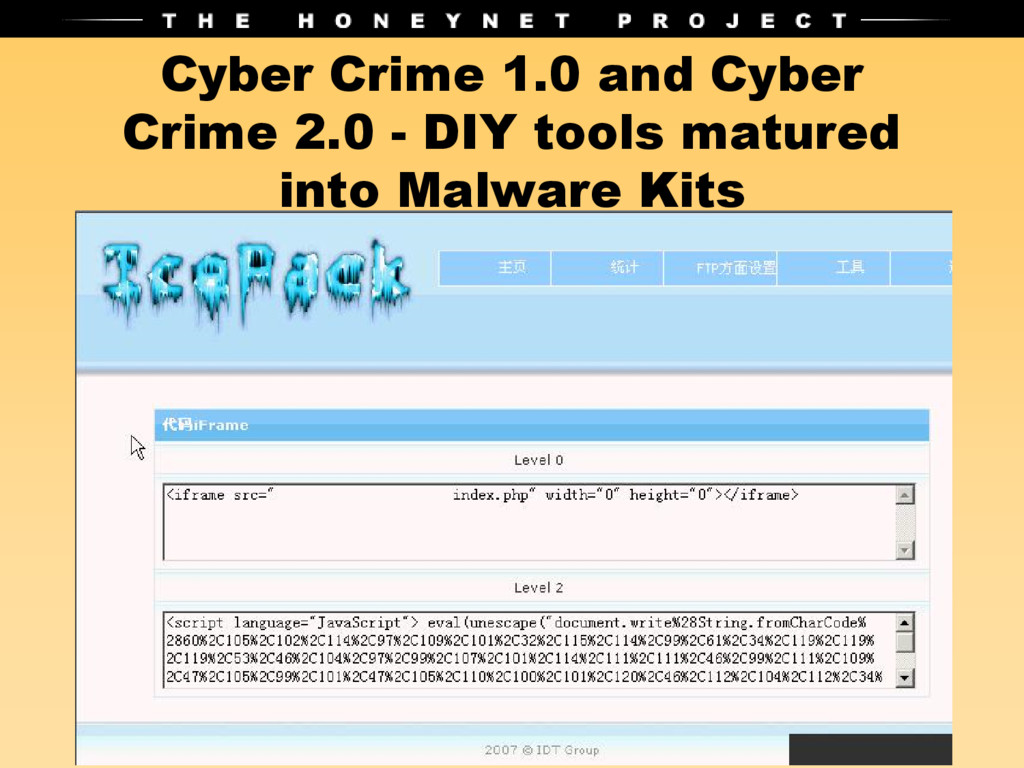 Cyber Crime 1.0 and Cyber Crime 2.0 - DIY tools...