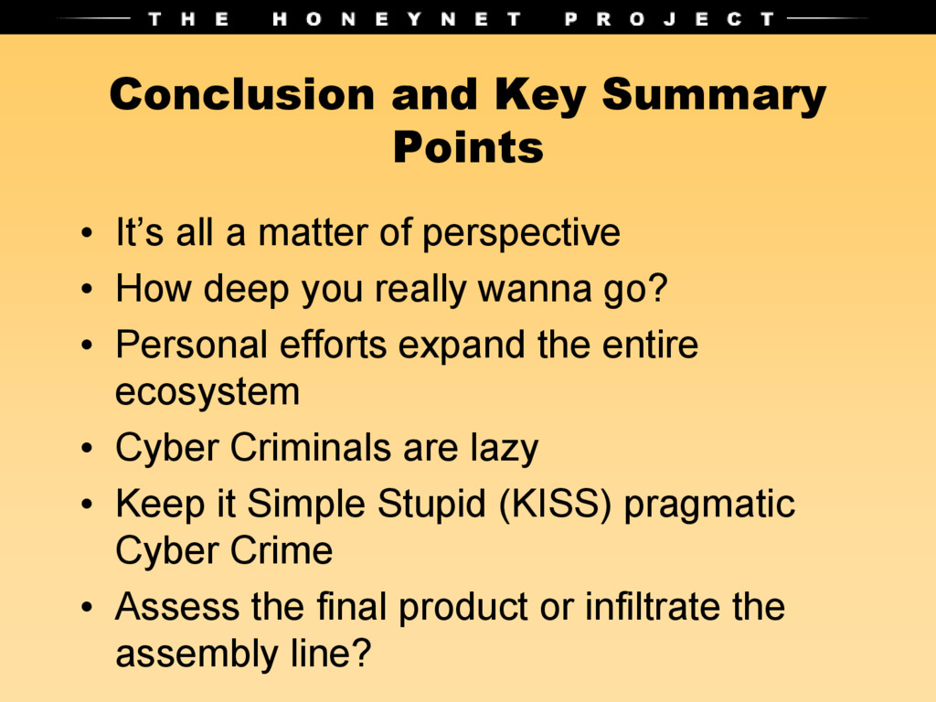 Conclusion and Key Summary Points • It's all a ...