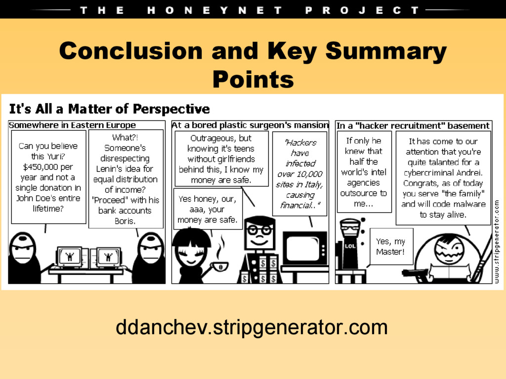 Conclusion and Key Summary Points ddanchev.stri...