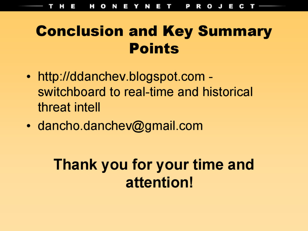 Conclusion and Key Summary Points • http://ddan...