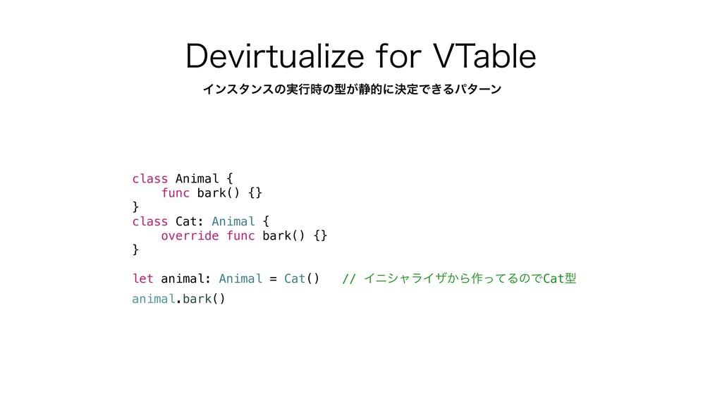 %FWJSUVBMJ[FGPS75BCMF class Animal { func bar...