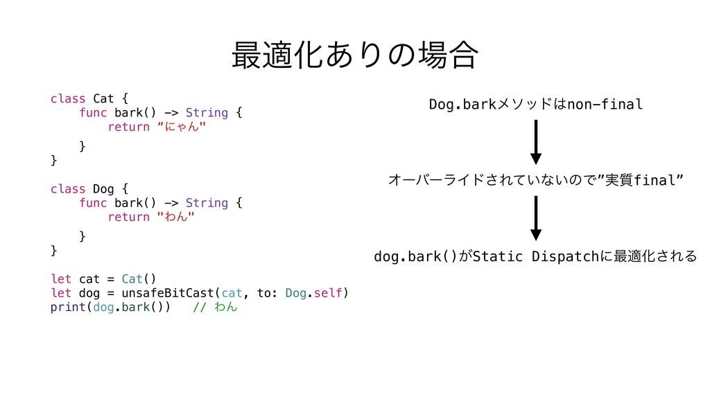 "class Cat { func bark() -> String { return ""ʹΌΜ..."