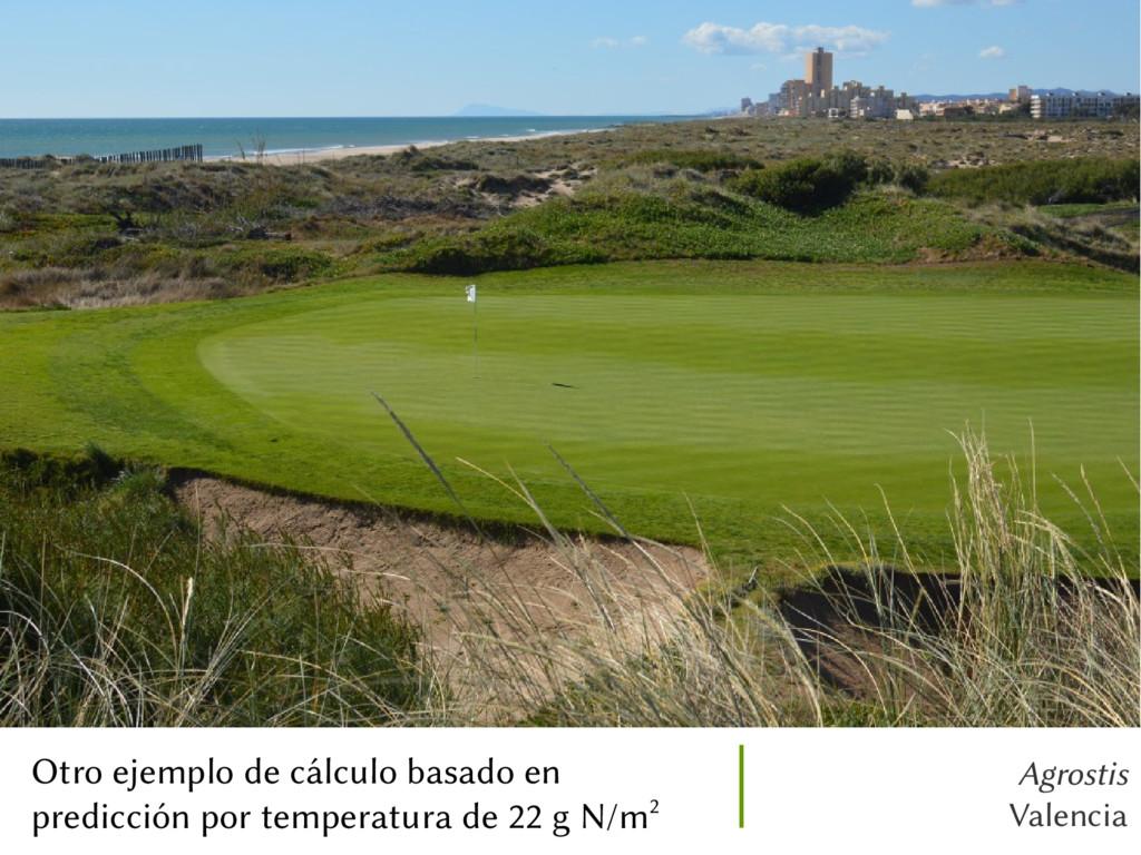 Agrostis Valencia Otro ejemplo de cálculo basad...