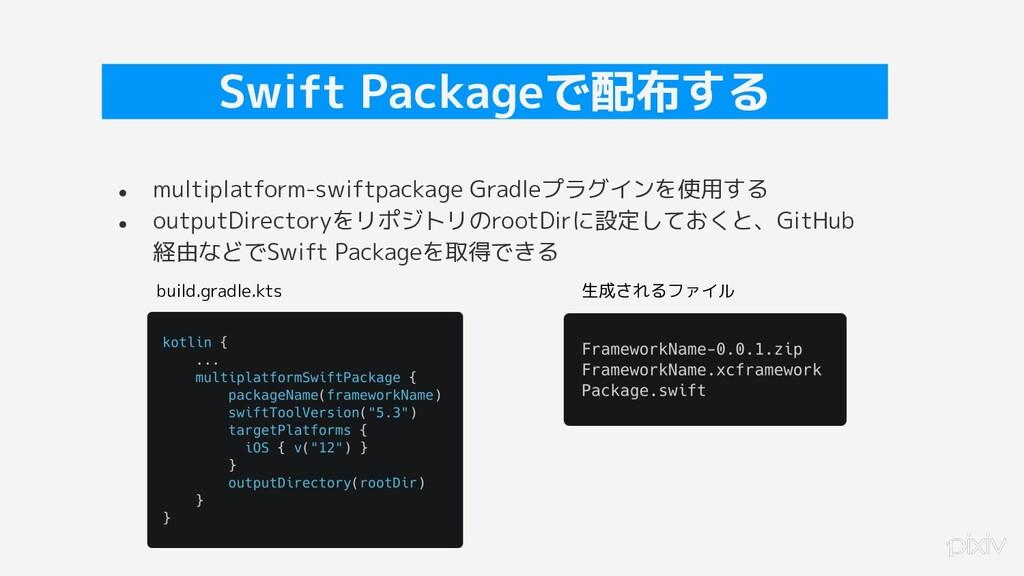 28 Swift Packageで配布する ● multiplatform-swiftpack...