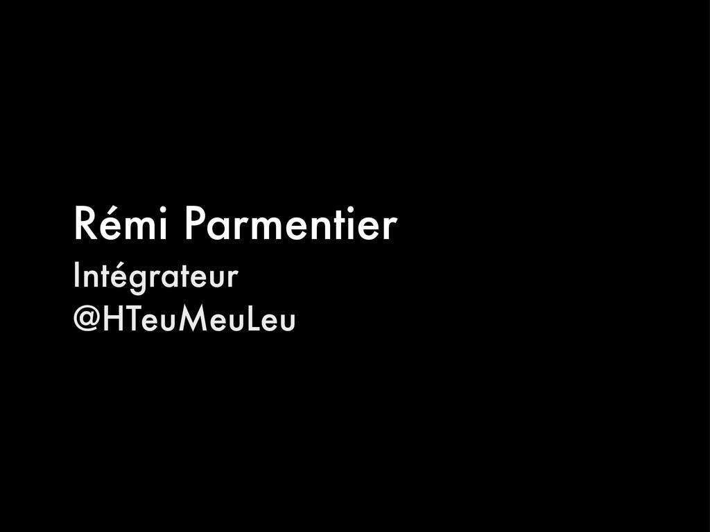 Rémi Parmentier Intégrateur @HTeuMeuLeu