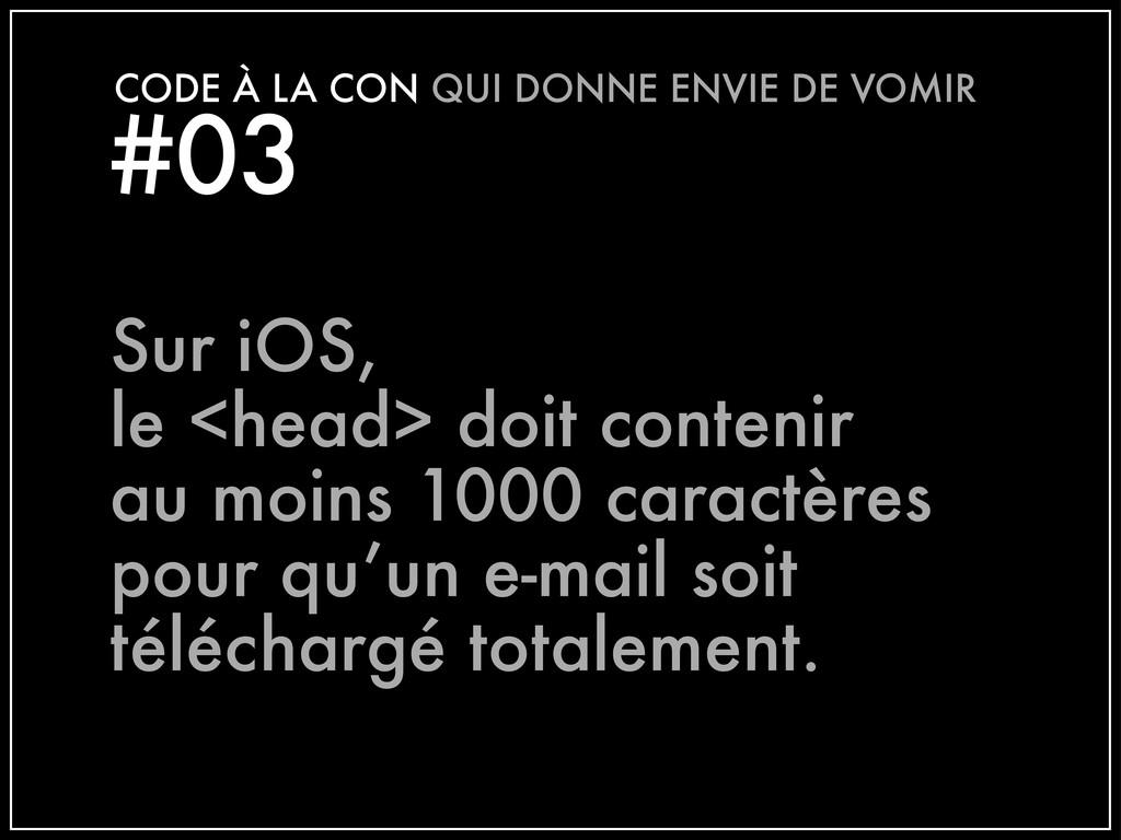 #03 CODE À LA CON QUI DONNE ENVIE DE VOMIR Sur ...