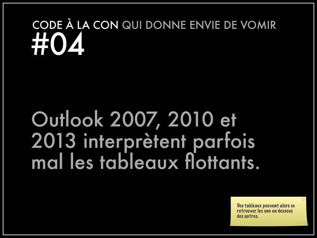 #04 CODE À LA CON QUI DONNE ENVIE DE VOMIR Outl...