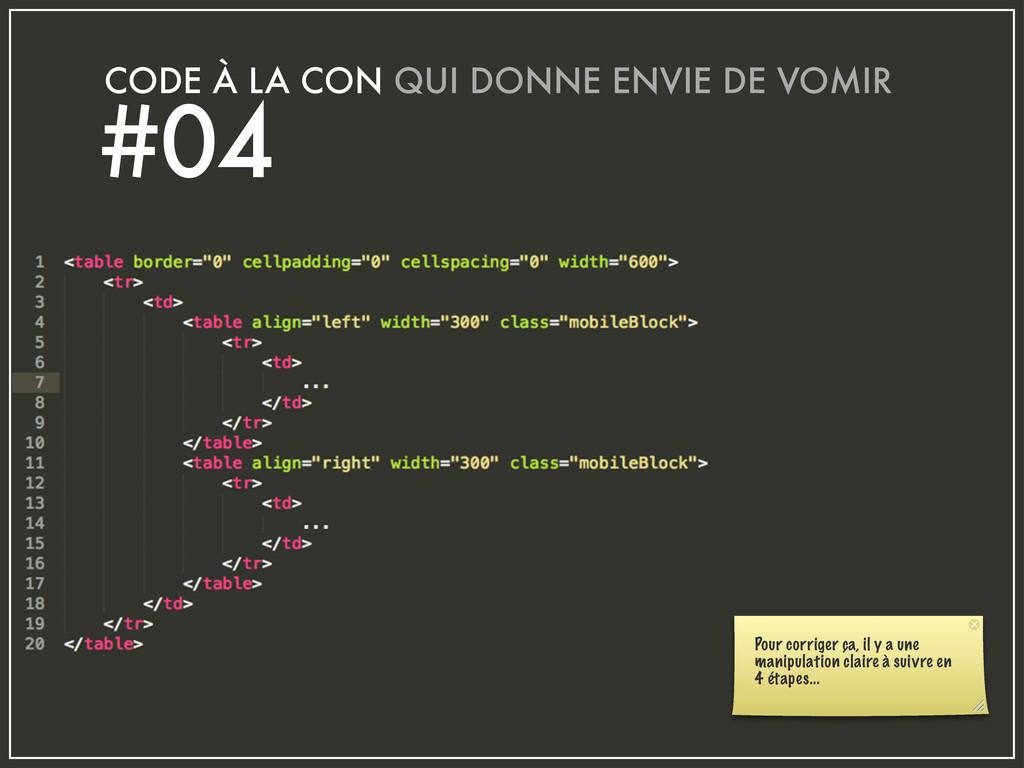 CODE À LA CON QUI DONNE ENVIE DE VOMIR #04 Pour...