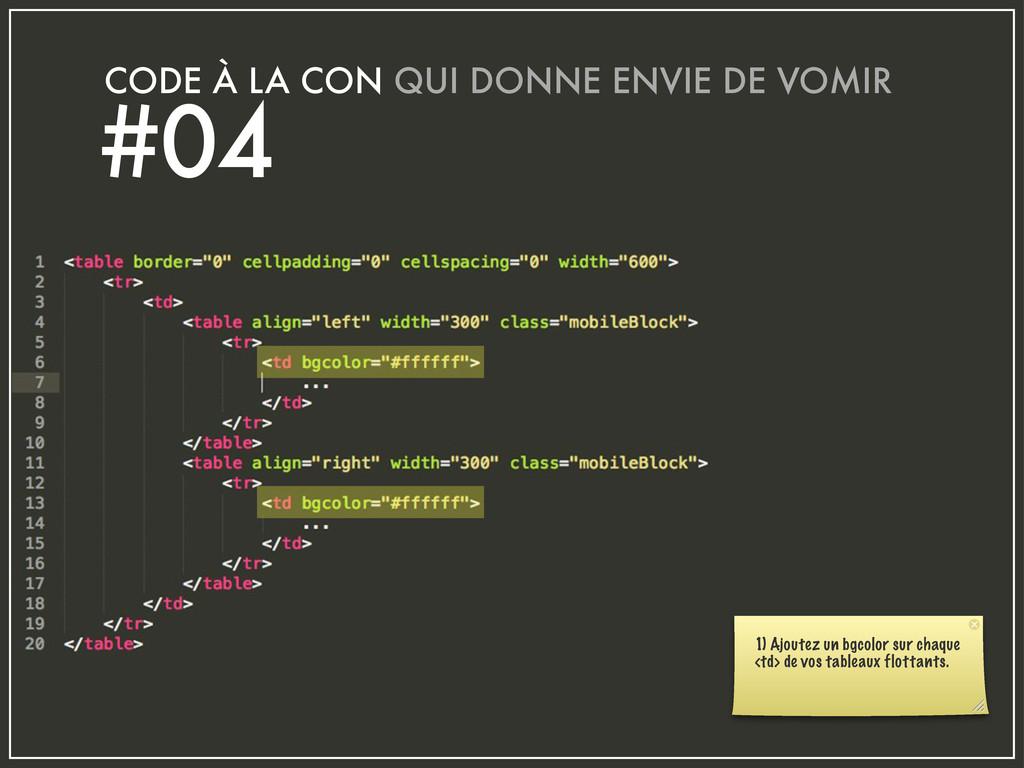 CODE À LA CON QUI DONNE ENVIE DE VOMIR #04 1) A...