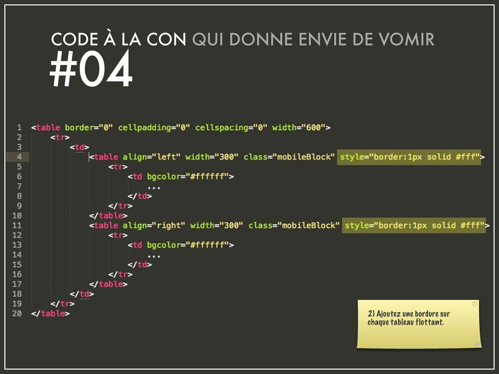 CODE À LA CON QUI DONNE ENVIE DE VOMIR #04 2) A...