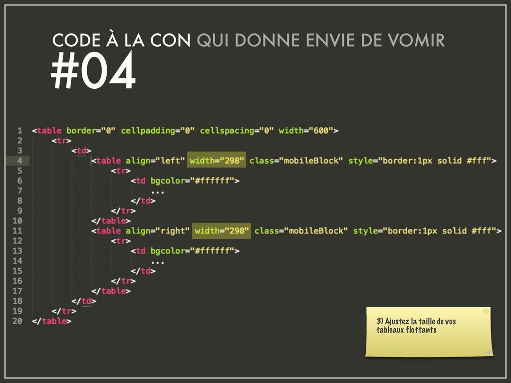 CODE À LA CON QUI DONNE ENVIE DE VOMIR #04 3) A...