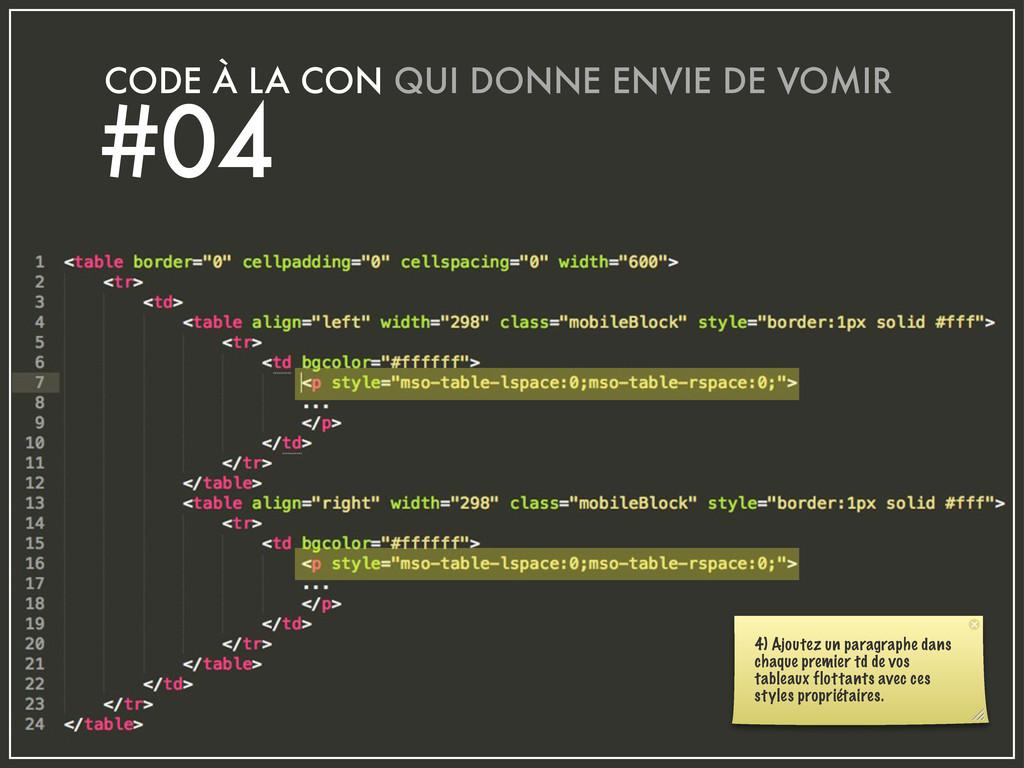 CODE À LA CON QUI DONNE ENVIE DE VOMIR #04 4) A...