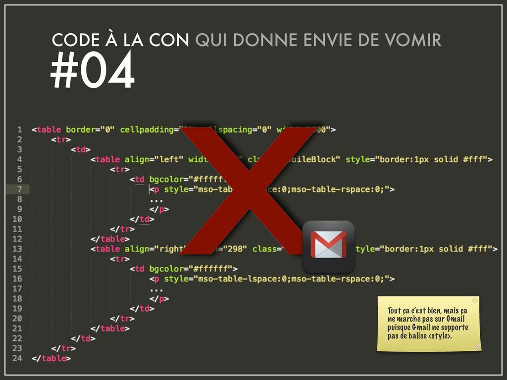 x CODE À LA CON QUI DONNE ENVIE DE VOMIR #04 To...