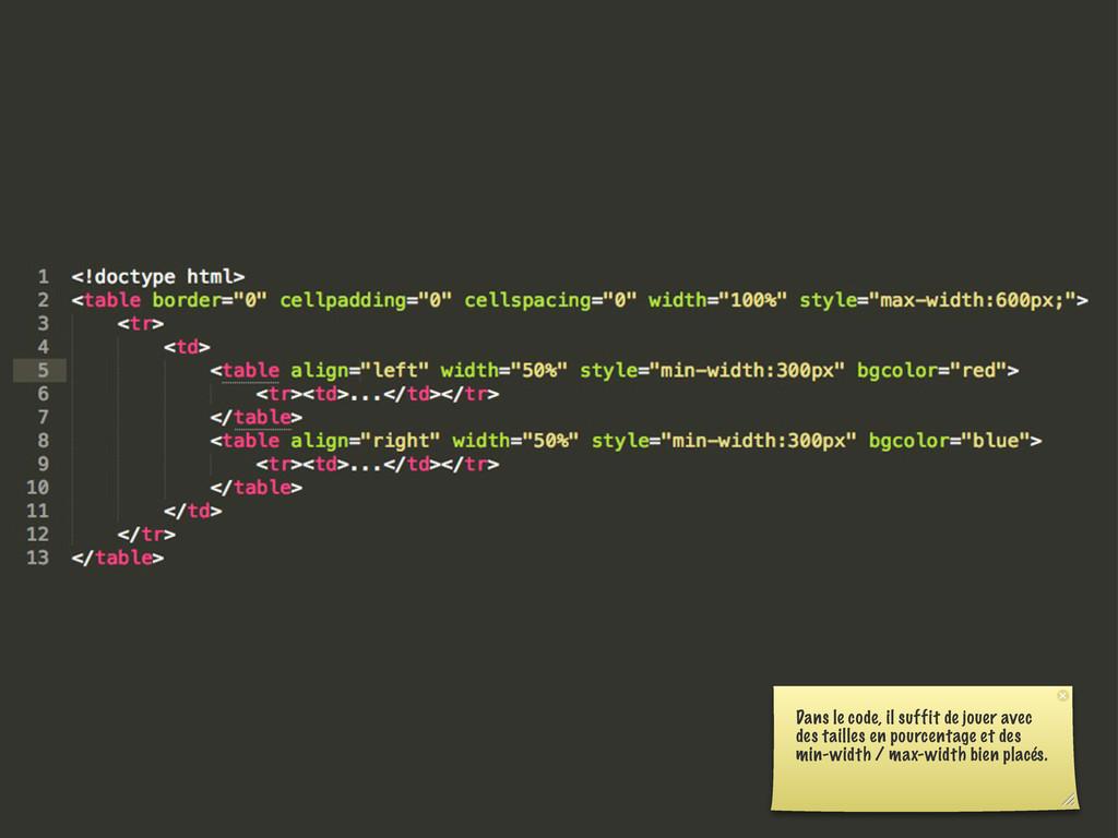 Dans le code, il suffit de jouer avec des taill...