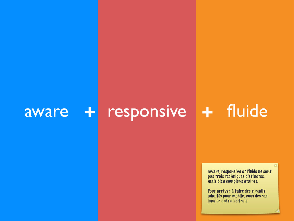 responsive aware fluide + + aware, responsive et...