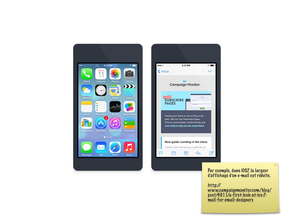 Par exemple, dans iOS7, la largeur d'affichage ...