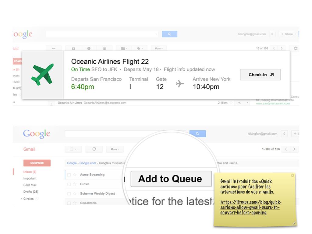 Gmail introduit des «Quick actions» pour facili...