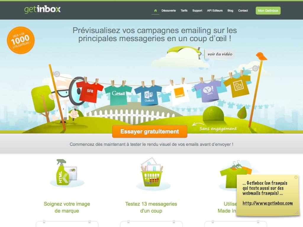 ... GetInbox (un français qui teste aussi sur d...
