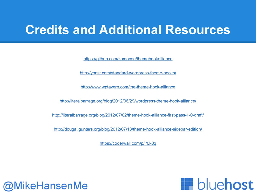 Credits and Additional Resources https://github...