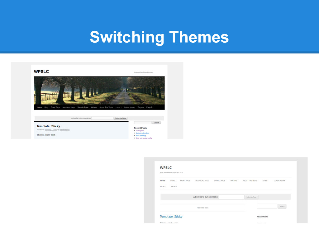Switching Themes