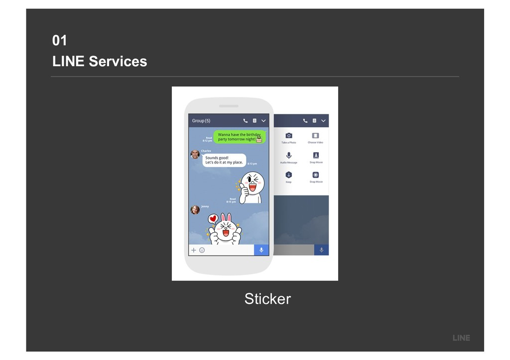 01 LINE Services Sticker