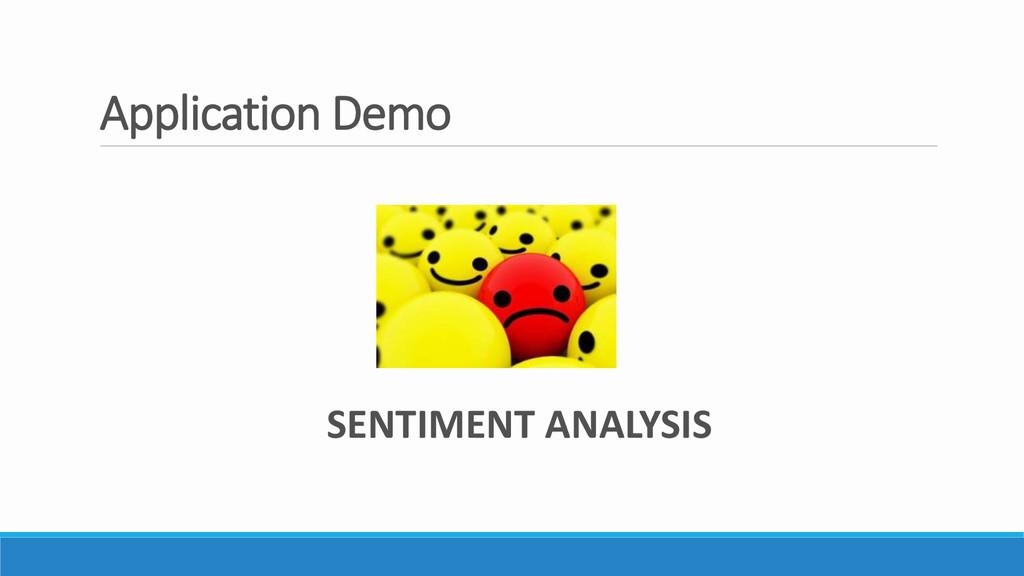 Application Demo SENTIMENT ANALYSIS
