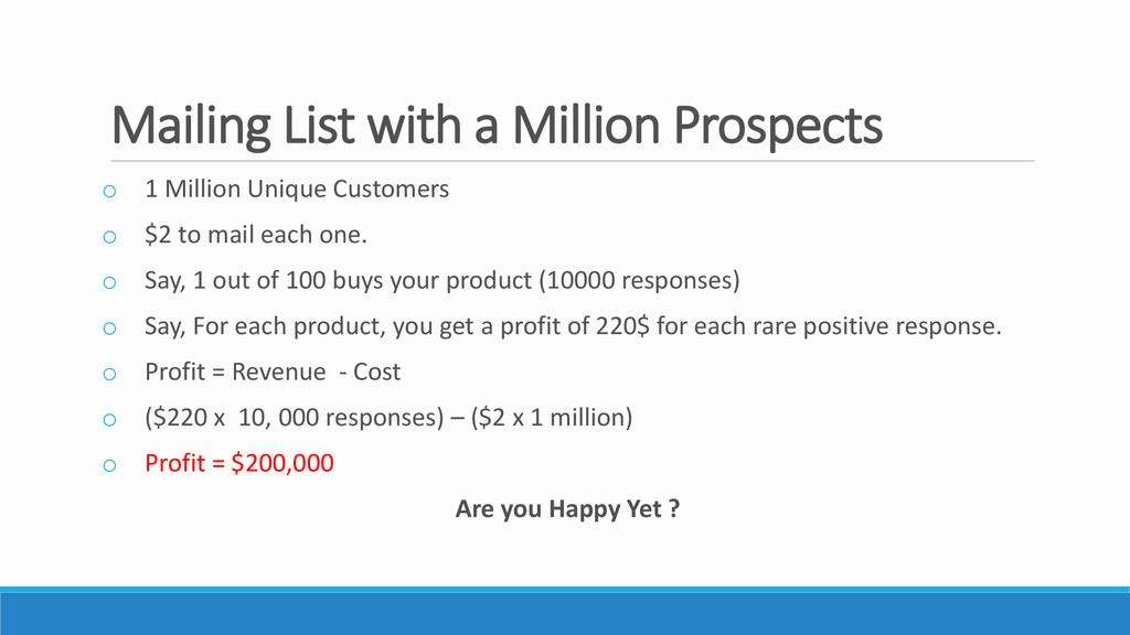 Mailing List with a Million Prospects o 1 Milli...