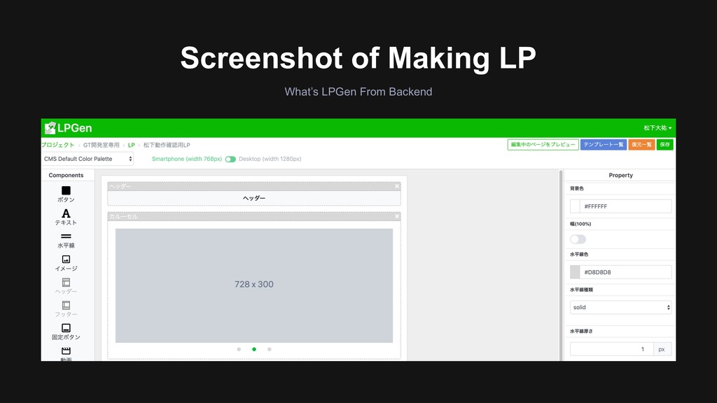 What's LPGen From Backend Screenshot of Making ...